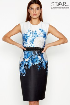 Star By Julien Macdonald Scuba Floral Print Dress