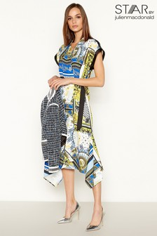 c812232425f Star by Julien Macdonald Scarf Print Wrap Dress
