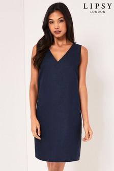 Lipsy Sleeveless Linen Shift Dress
