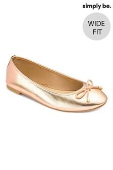 נעלי בלרינה בייסיק בגזרה רחבה של Simply Be