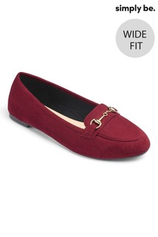 Simply Be Basic Wide Fit Snaffle Loafer