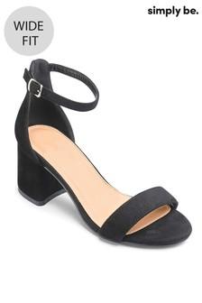 Simply Be Wide Fit Block Heel Sandals