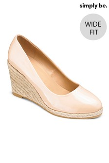 Simply Be Wide Fit Espadrille Wedge Court Heels