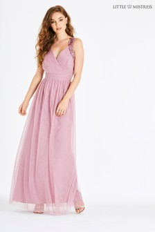 Little Mistress Mesh Maxi Dress