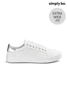 נעלי בובה במידה רחבה עם שרוכים של Simply Be