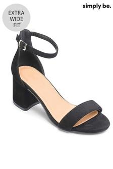 4f7e9fa564d4 Buy Women s footwear Footwear Wide Wide Black Black Sandals Sandals ...