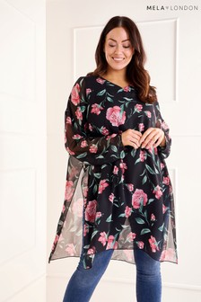 Mela London Curve Rose Print Tunic