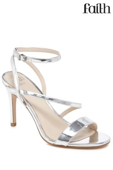 Faith Metallic Heeled Sandals