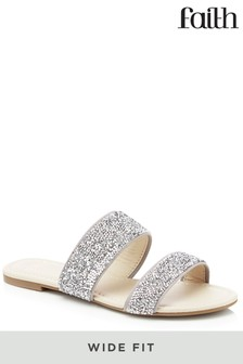 Faith Wide Fit Two Strapped Sandals