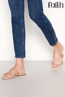 Faith Rose Flat Sandals