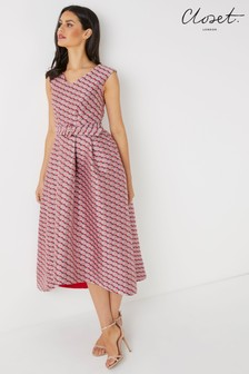 Closet Hi-Lo Pleated Dress