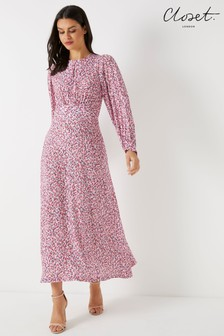 Closet Puff Sleeve A line Dress