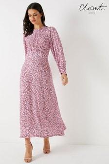Closet Puff Sleeve A line Dress 7a27ce5ca