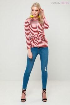 Urban Bliss Skinny-Jeans mit doppeltem Taillenbund