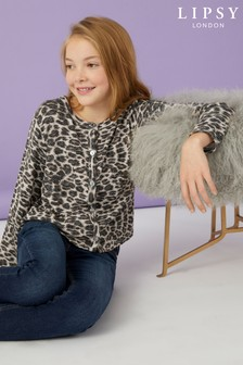 Lipsy Girl Leopard Cardigan