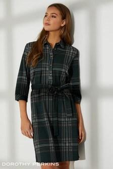 Koszulowa sukienka z dżreseju Dorothy Perkins
