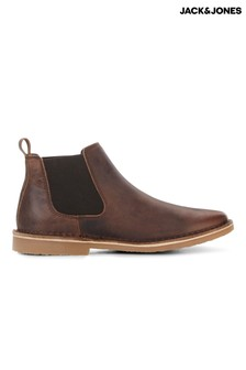 Jack & Jones Leather Chelsea Boots