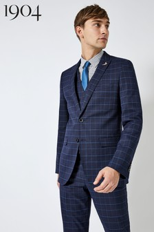 1904 Check Slim Fit Suit Jacket