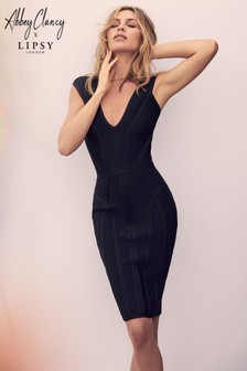 Abbey Clancy x Lipsy Sweetheart Bandage Dress