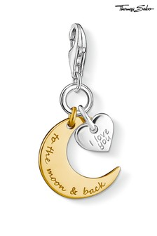 "Colgante con diseño de luna y corazón ""I Love You To The Moon And Back"" de Thomas Sabo"