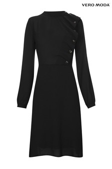 Vero Moda Petite Long Sleeve Ruffle Dress