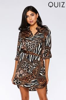 Quiz Printed Shirt Dress