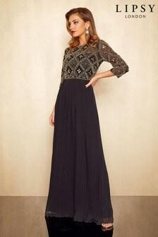Lipsy Embellished Pleated Maxi Dress