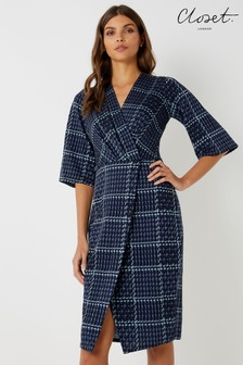Closet Bell Sleeve Wrap Dress