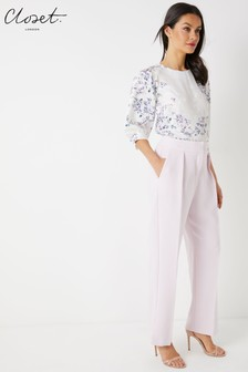 Closet Side Vent Straight Trousers