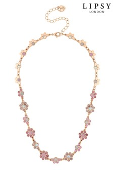Lipsy Floral Cast Necklace