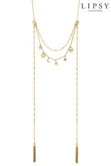 Lipsy Stars & Moon Multi-row Necklace
