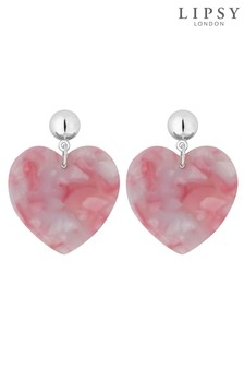Lipsy Front Facing Resin Heart Earring