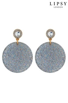 Lipsy Glitter Disc Resin Earring