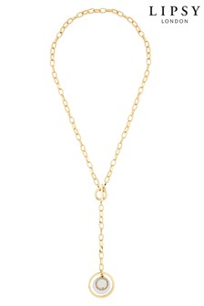 Lipsy Crystal Chain Necklace