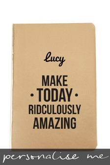 Personalised Metallic A5 Notebook by ICE London