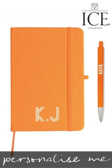 Personalised Monogrammed A5 Neon Notebook & Pen by ICE London