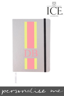 Personalised Monogrammed Stripe A5 Notebook By ICE London
