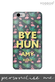 Personalised Bye Hun Colourful Flamingo Phone Case By YooDoo
