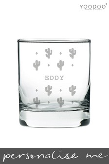 Personalised Engraved Cactus Whiskey Glass By YooDoo