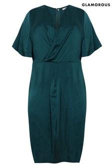 Glamorous Wrap Front Midi Dress