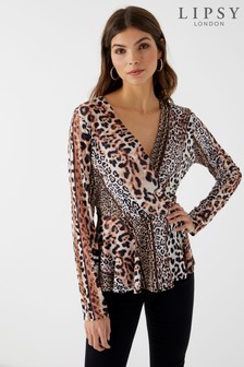 Lipsy Animal Print Top