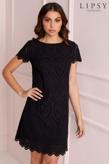 Lipsy Broderie Shift Dress