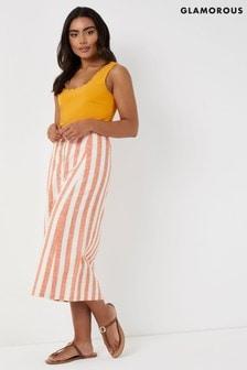 Jupe mi-longue Glamorous à rayures