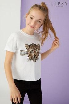 Lipsy Girl Leopard Face Tee