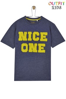 "Outfit Kids T-Shirt mit ""Nice One""-Slogan"