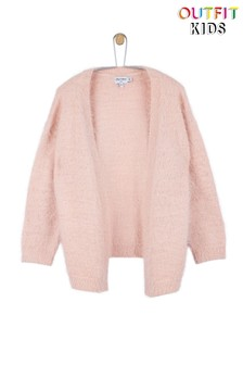 Outfit Kids Flauschige Strickjacke