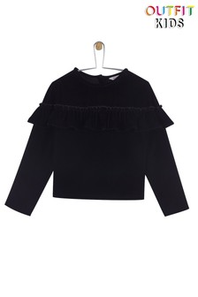 Outfit Kids Velvet Ruffle Top