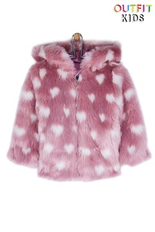 Outfit Kids Heart Hooded Coat