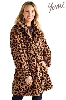 Yumi Oversized Leopard Print Coat