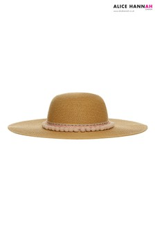 Alice Hannah Ladies Band Floppy Straw Hat